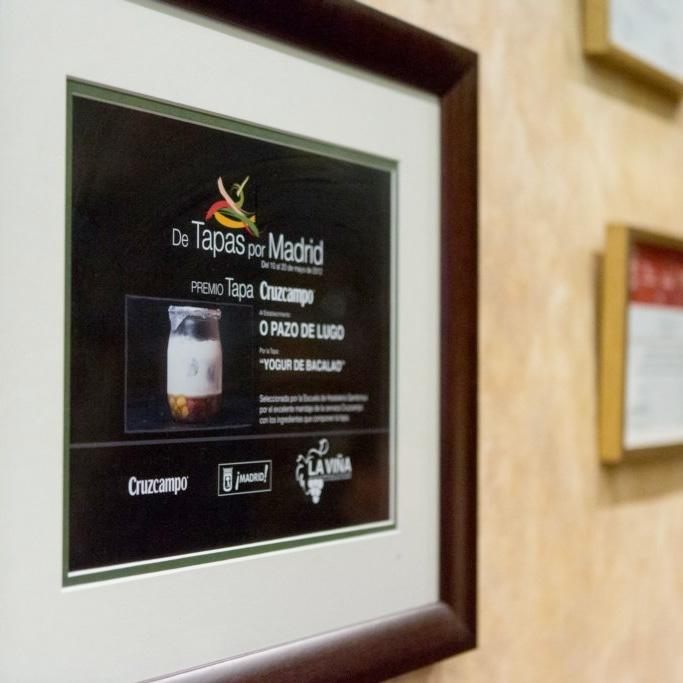 O Pazo de Lugo, premios gastronómicos